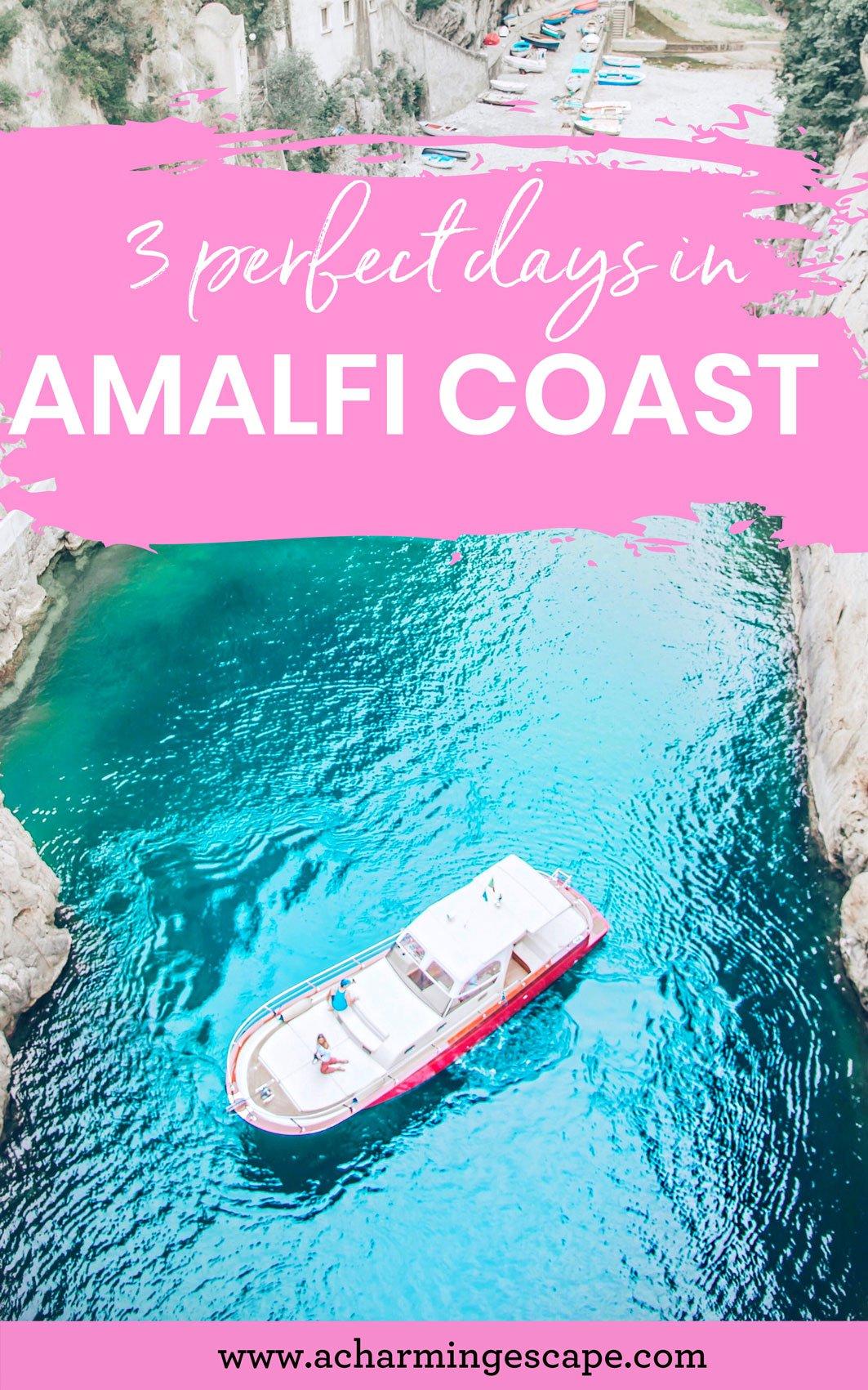 3 day Amalfi Coast itinerary