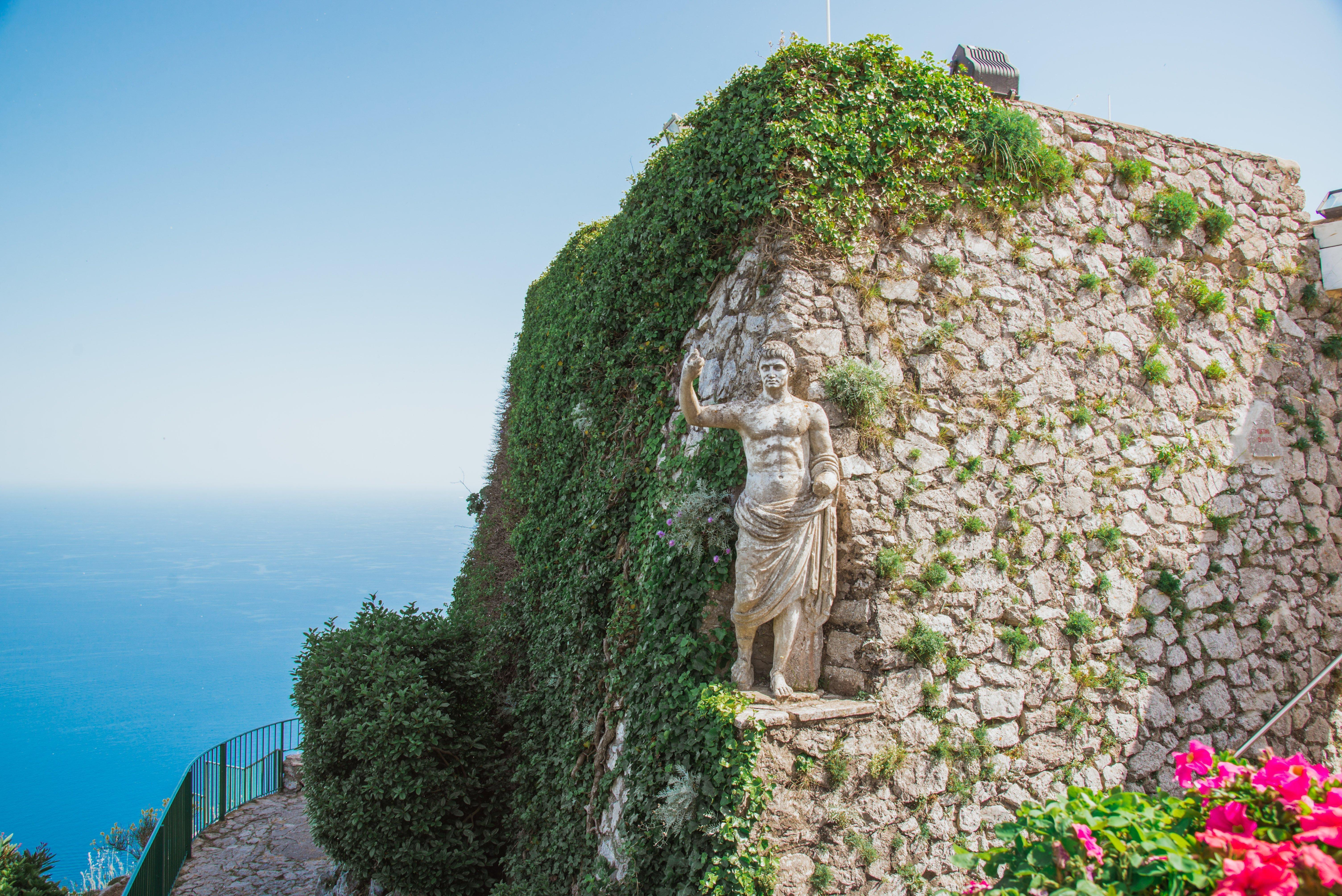 Anacapri Montesolaro Caesar statue