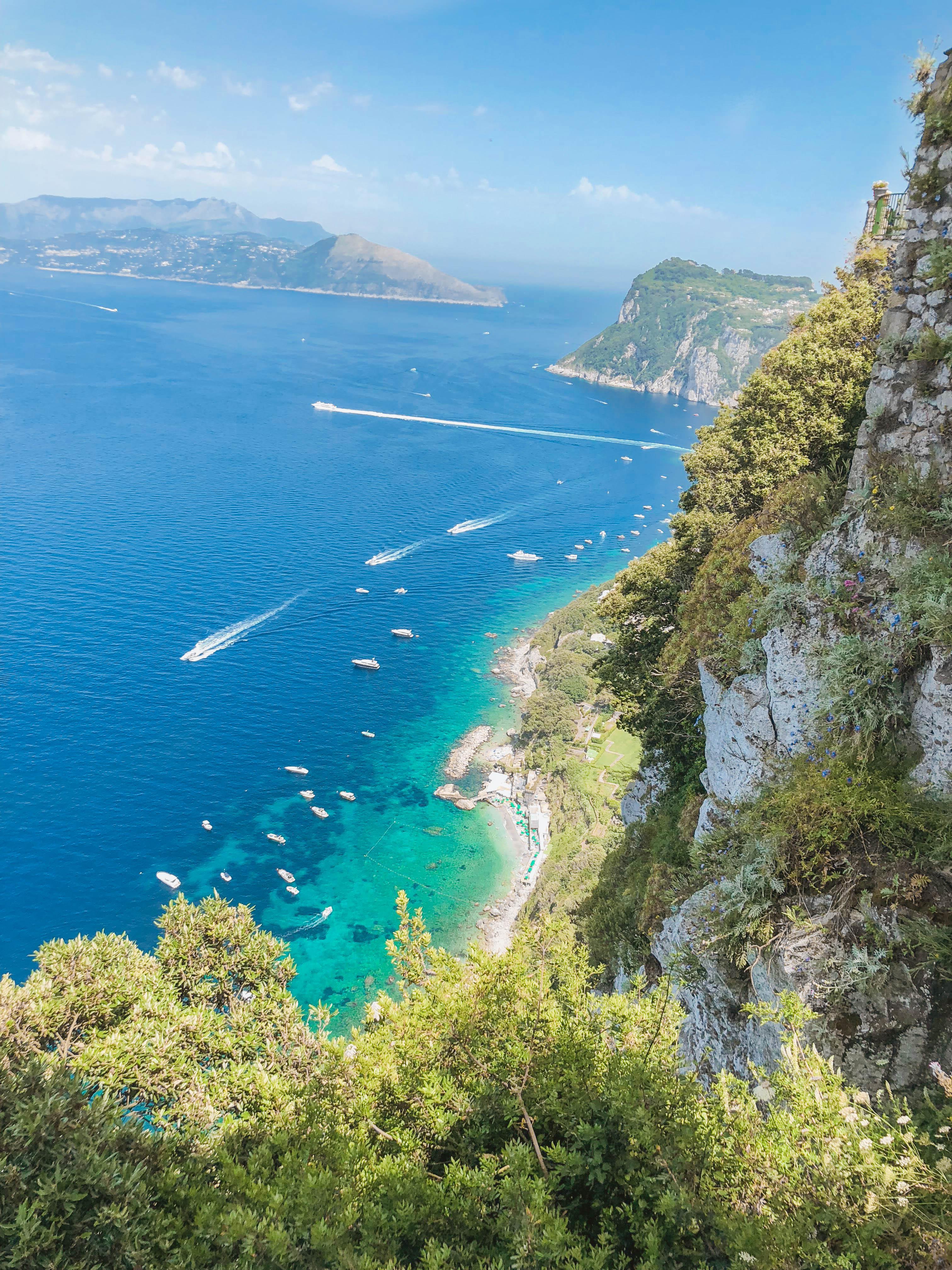 View from Caesar Augustus hotel Capri Italy
