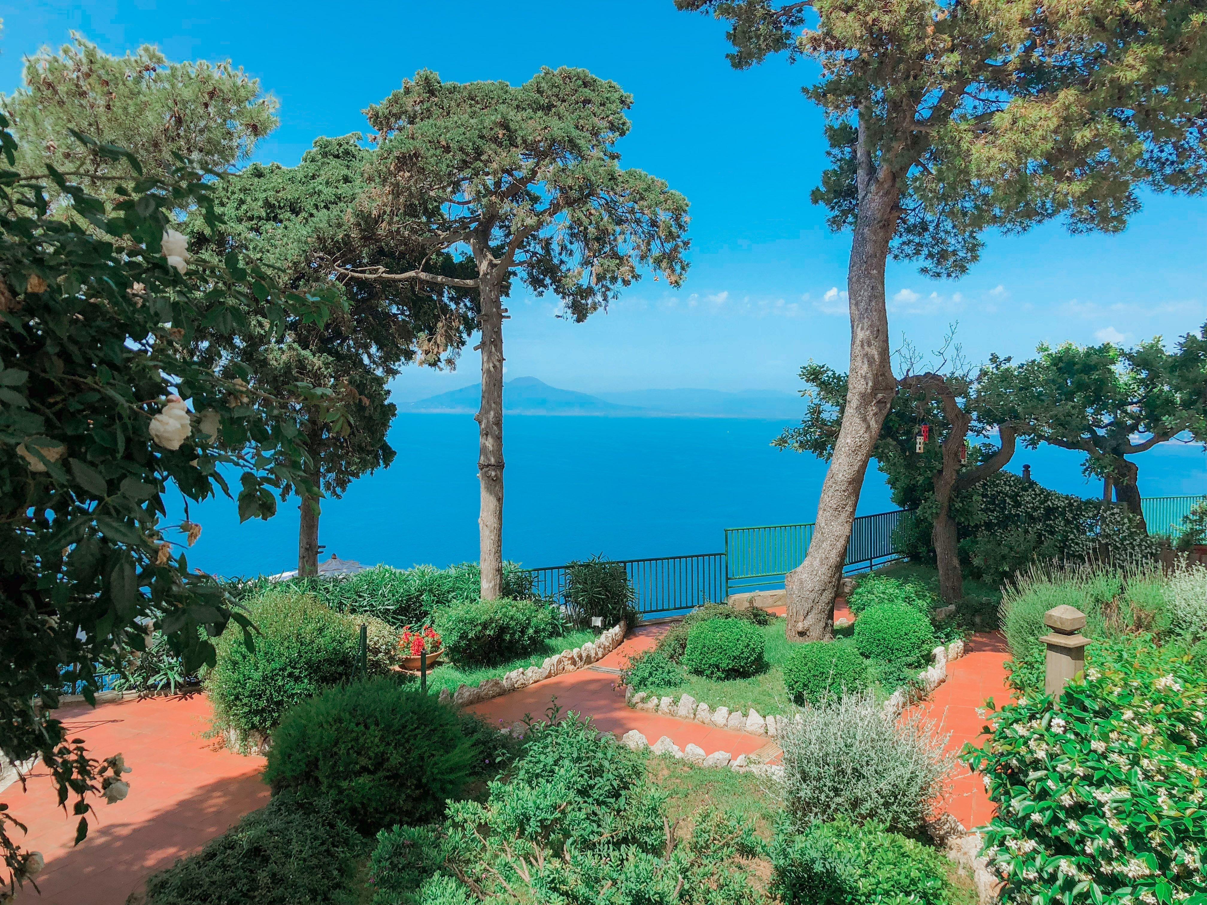 View of Caesar Augustus hotel Capri Italy