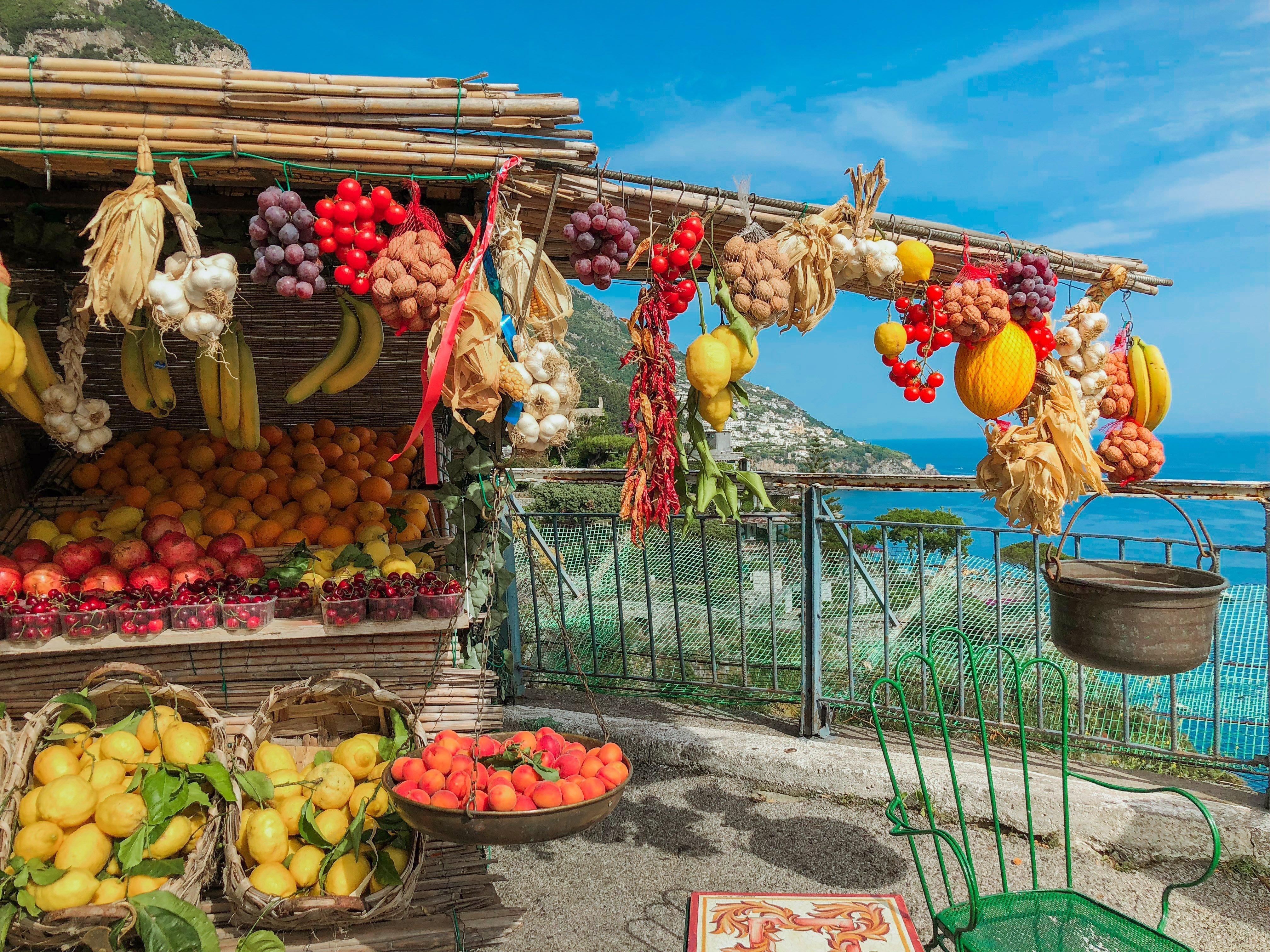 Fruit stand, Positano