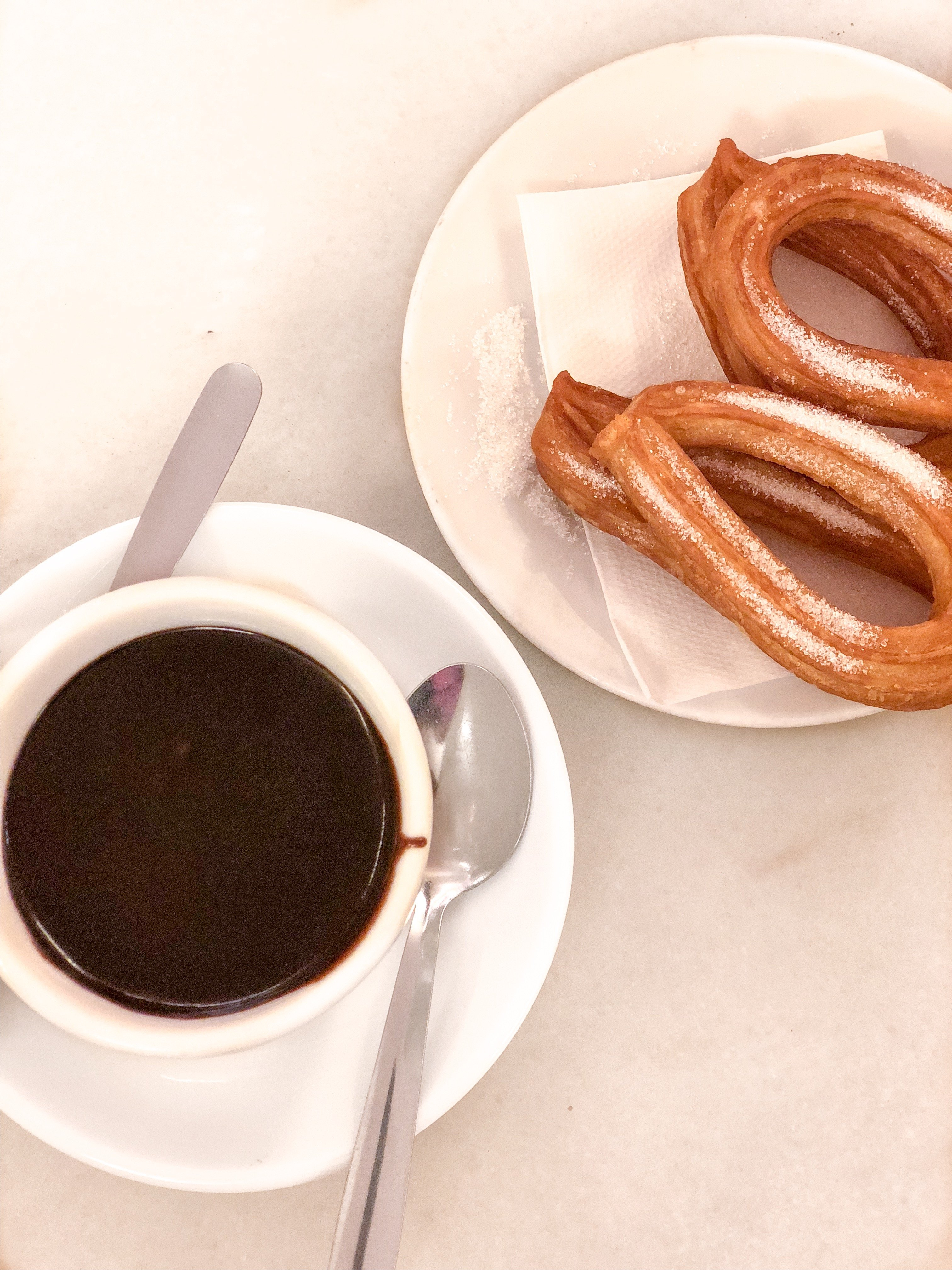 Churros and hot chocolate Barcelona