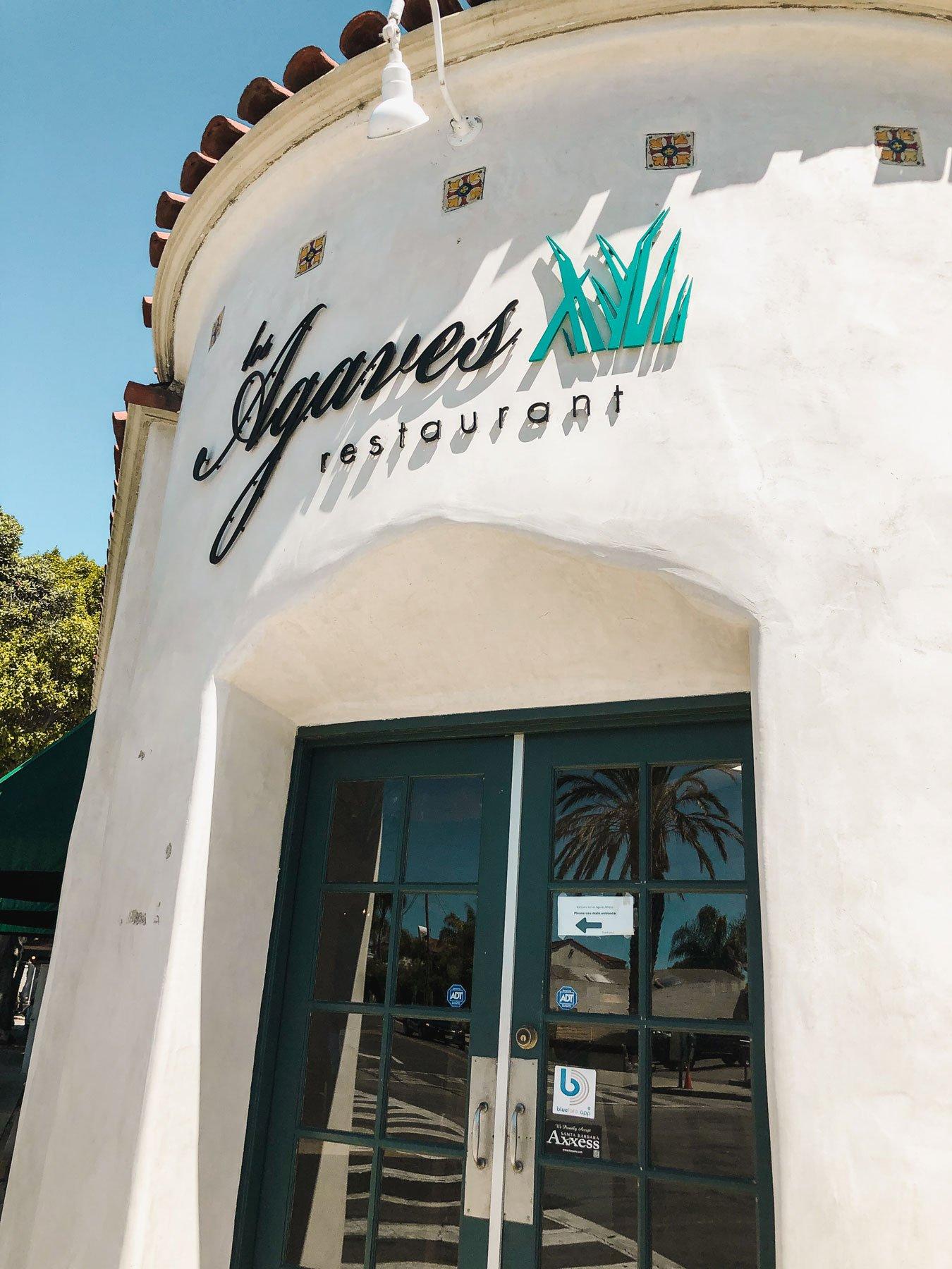 Los Agaves restaurant Santa Barbara entrance