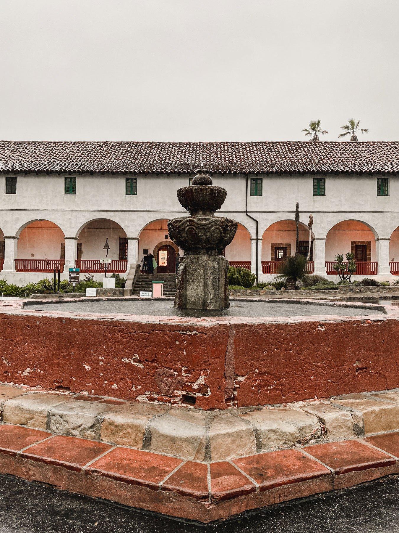 Old mission Santa Barbara grounds
