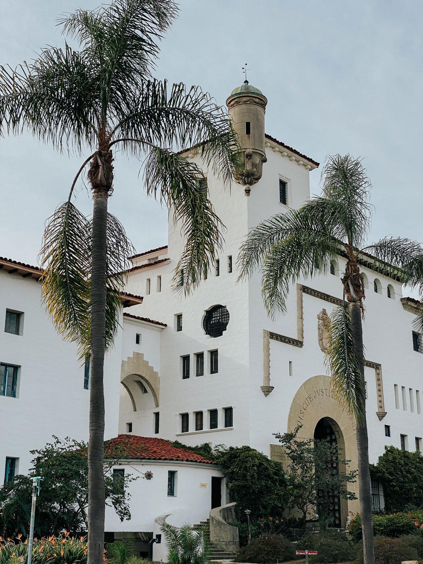 Santa Barbara Courthouse outside