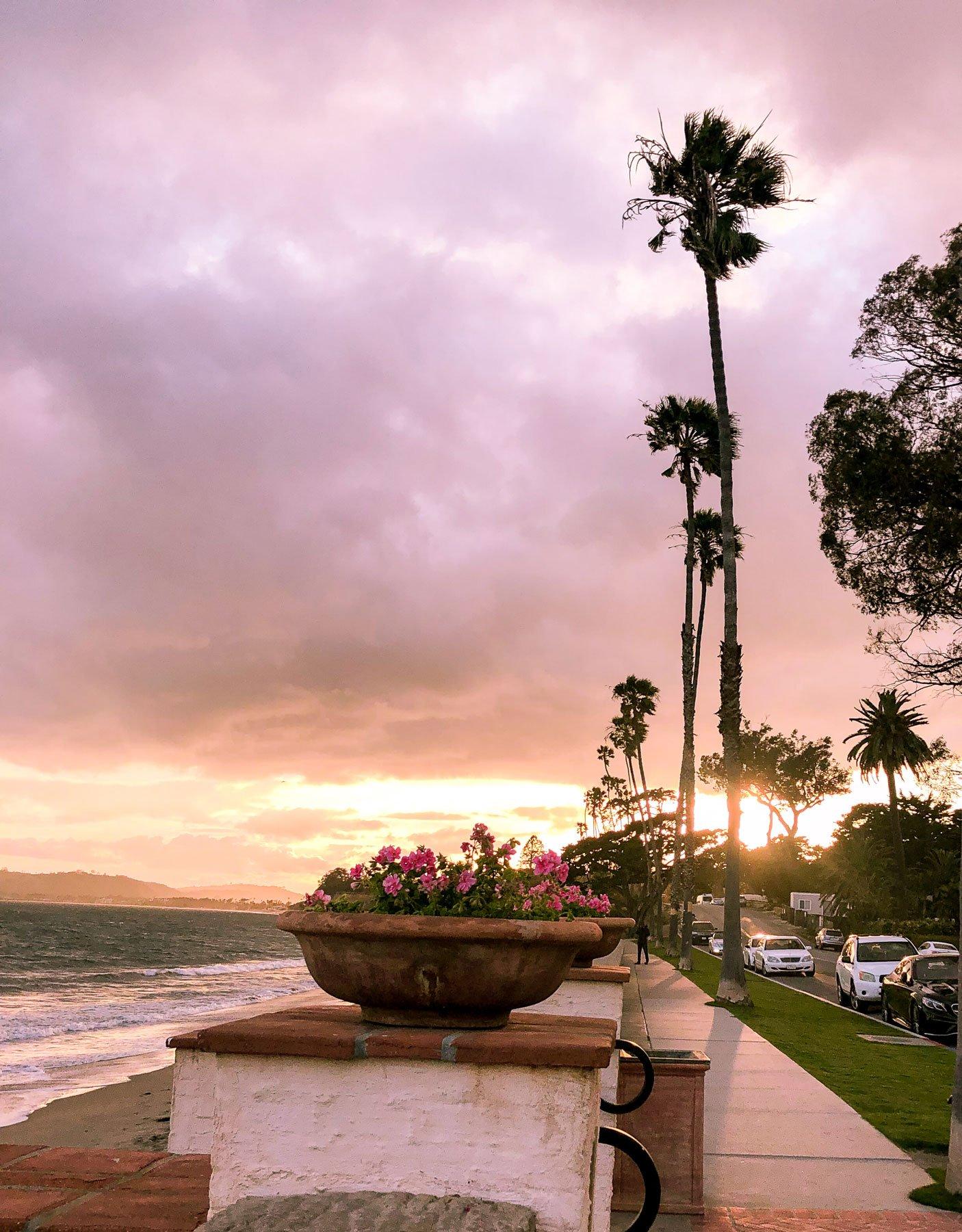 Sunset at butterfly beach Santa Barbara