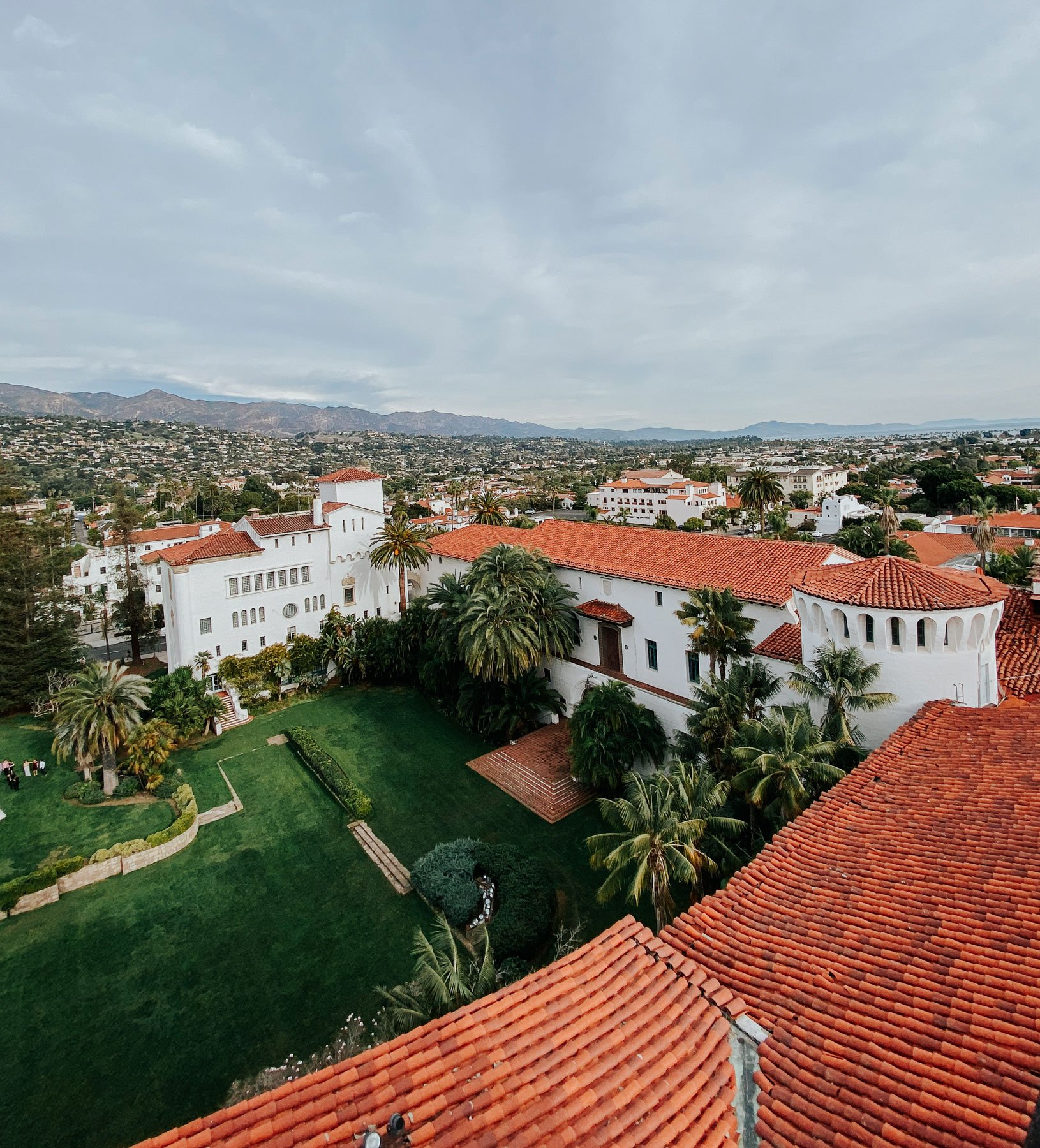 View from clock tower of the courthouse Santa Barbara