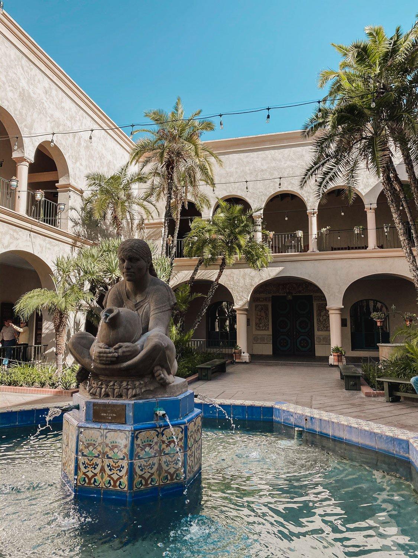 Prado restaurant courtyard Balboa Park