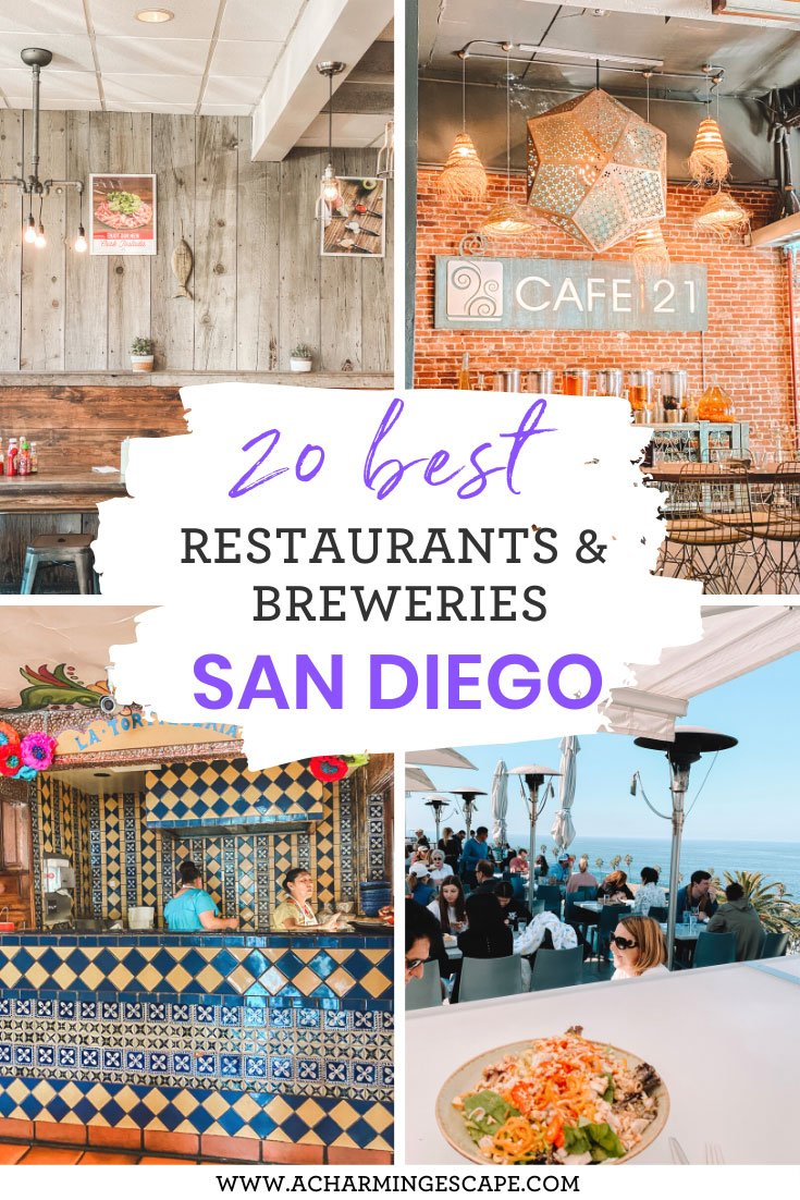 20 best restaurants and breweries San Diego