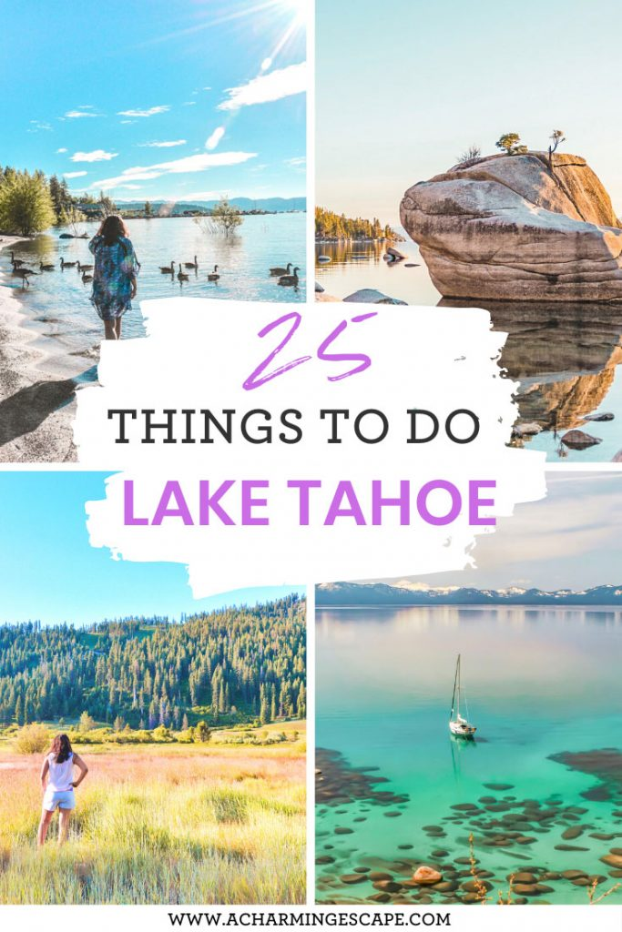 summer in Lake Tahoe 25 things to do
