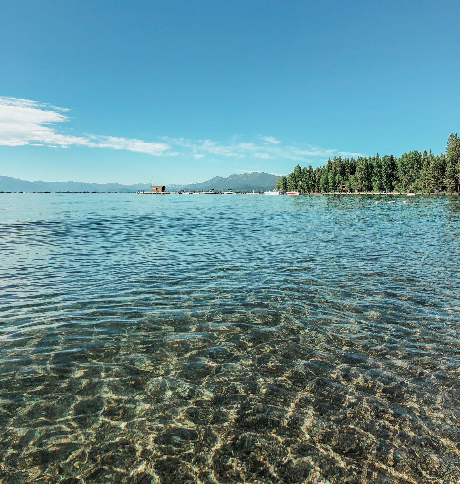 Commons beach, Tahoe City