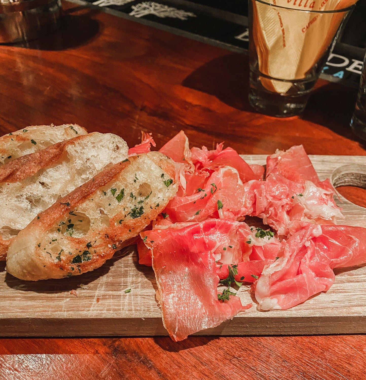 Jamón appetizer, Café Sevilla, Gaslamp