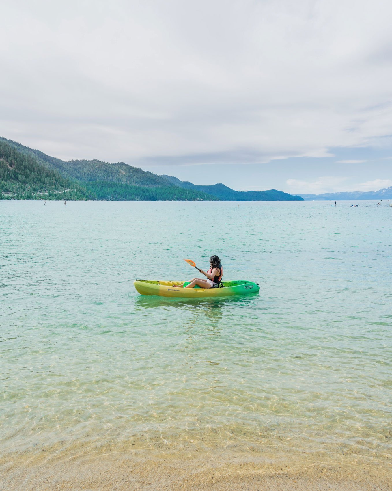 Kayaking Sand Harbor Beach
