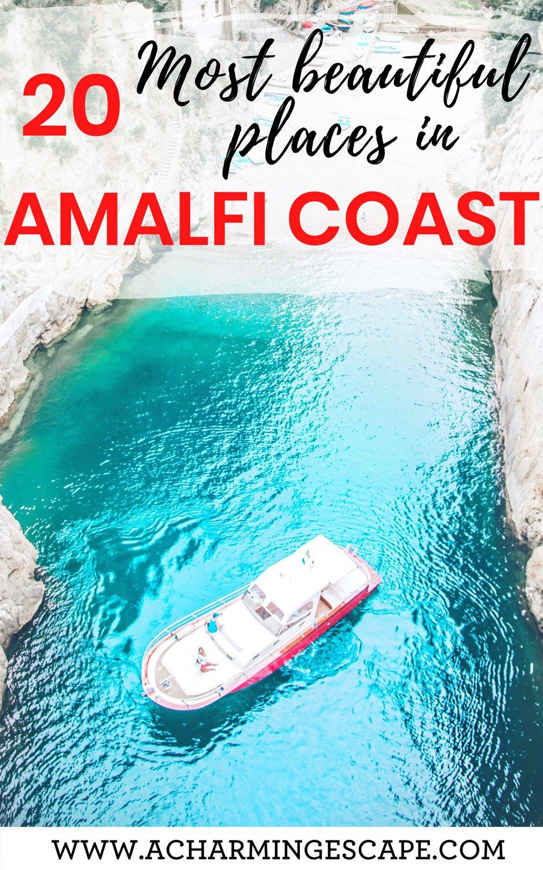 20 most beautiful places in Amalfi Coast