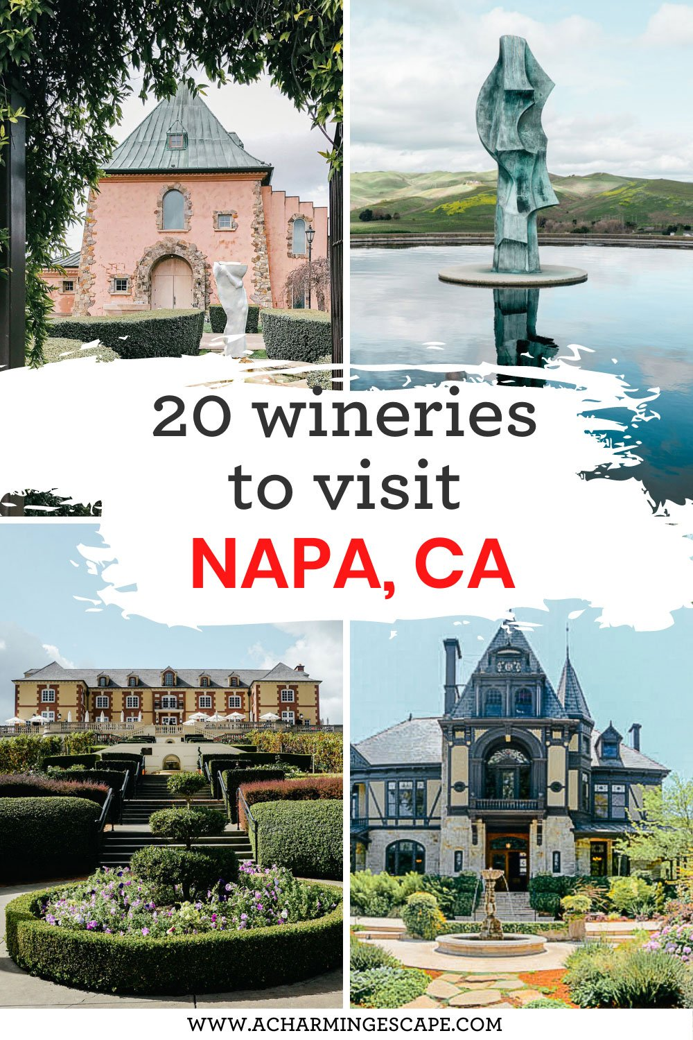 20 most beautiful wineries in Napa