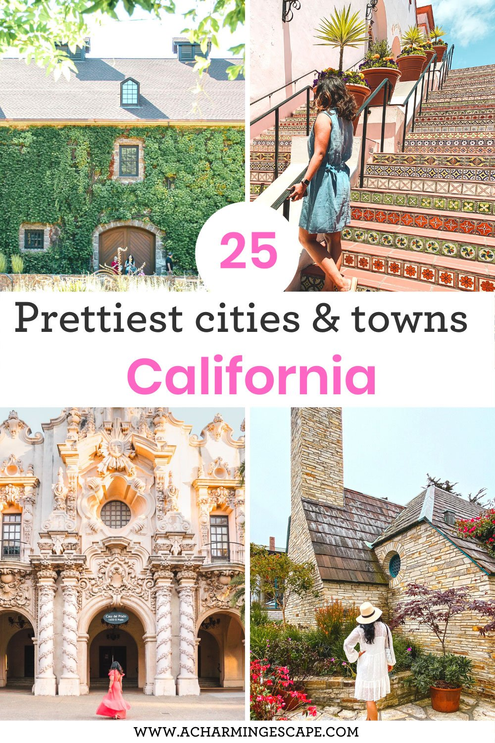 Prettiest cities and towns in California
