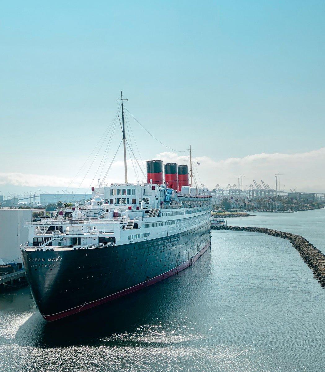 Queen Mary ship at Long Beach, California