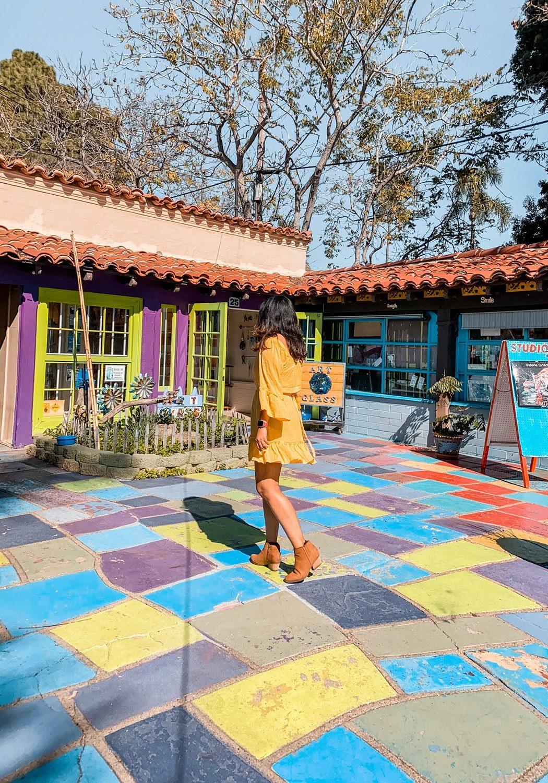 Spanish village art center Balboa Park San Diego